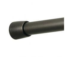 InterDesign 78671EU Asta a Tensione per Tenda Doccia, Metallo, Marrone, 127 - 221 cm