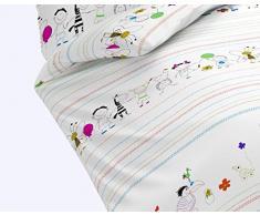 Sogno Art Kids 143605 9 federa Renforce-bambini-biancheria da letto, 135 x 200 cm, multicolore
