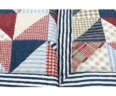 Copriletto Ronja 180 x 220 cm a quadri tre Eicke strisce plaid Quilt Coperta