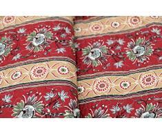 1001 Wohntraum 17jn18 Quilt Lisa Ranken Fiori, 220 x 240 cm, Coperta Plaid, Vintage Shabby soffitto Barocco, Arancione