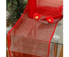 XXL - Prodotti al metro 5,00 Metri - Per decorare, fai da te, abbellire e costruire - Rocchetti di stoffa Prodotti al metro Nastro in tessuto organza 40cm largh. e 500 cm Lungh. in blu - anche in rosso vino e giallo disponibili