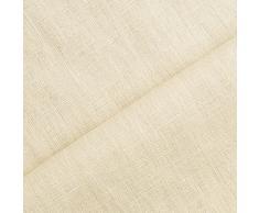 Holmar - tessuto lino prelavato industrialmente - stoffa al metro (beige)