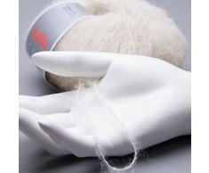 Katia seta-Plaid in lana d'Alpaca, colore: beige chiaro#61 DK 4 ferri maglia, da 4,5 mm, 25 g, 150 m 74%-seta 26% Alpaca