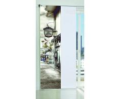Home Fashion Harborside Tenda a Pannello, Poliestere, Nero/Bianco, 245 x 60 cm