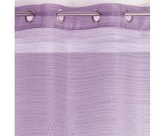 DOUCEUR D'INTERIEUR-Tenda con occhielli, Organza fili, colore: lilla, Argento, 140 x 240 cm