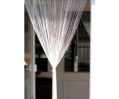 1001 Wohntraum F11 - Tenda a fili, 100 x 200 cm, colore: Bianco