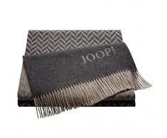 Joop. Plaid, 80% lana, 20% cashmere, Antracite, 130 x 180 cm