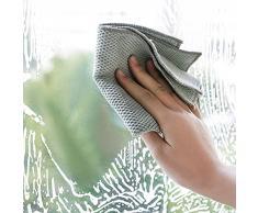 Strofinacci in microfibra per cucina - Strofinacci in vetro assorbente per la casa - Strofinacci per la pulizia della casa extra morbidi Asciugamani di Dorey-Hom. (Grigio - Set di 5)