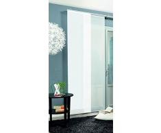 Home Fashion Rom Tenda a Pannello, Poliestere, Bianco, 245 x 60 cm