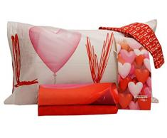 Bassetti Completo Lenzuola matrimoniali Love Party Collezione Imagine