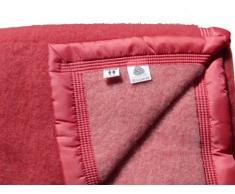 Comptoir du Linge LAI522ROS - Coperta Matrimoniale di lana, 240 x 220 cm, colore: Rosa