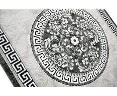 Traum Tappeto moderno design Tappeto orientale con Glitzergarn tappeto da salotto con bordo e cerchio modello in crema grigio antracite Größe 80 x 300 cm
