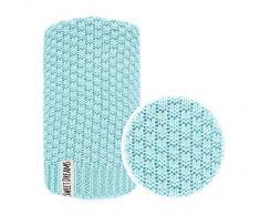 Coperta Accogliente In Cotone 100% per bambini bambine coperta ideale come coperta per bambini, per neonati coperta, primainfanzia coperta lavorata in maglia 80x100 I 100x120 (1032) (Menta, 80 x 100)