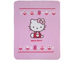CTI 042 819 Ciao Kitty coperta in pile Caroline poliestere 110 x 140 cm rosa