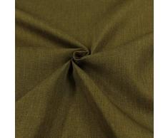 Generico Tessuto Idrorepellente al Metro - Stoffa ANTIMACCHIA in Poliestere - Sabri Canvas - Morbido e Resistente - Altezza 140 cm - 1 QTA = 50 cm - 22 Colori (Verde Oliva 11)