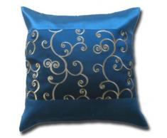 Fodera per cuscino con motivo floreale blu federa cuscino 41,5 cm x 41,5 cm tailandese per il divano