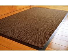 Think-Louder, tappetino per esterni in gomma anti-scivolo, per ingresso, zerbino da casa, cucina, ufficio, Brown, 40 x 60 cm
