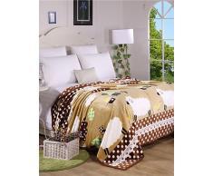 """kiuytghnb comforter morbido semplice moda modello caldo ispessimento flanella coperta trapunta, Pile, w79"""" x l90"""""""