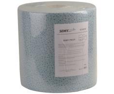 Semy Top Pulizia speciale rotolo di stoffa, blu, 29 x 37 cm, 500 fogli, Confezione 1er (1 x 1 pezzo)