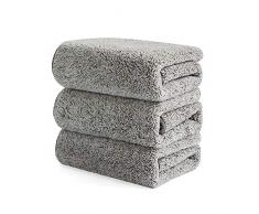 SZBLYY Strofinacci Asciugamani da tè Bamboo Charcoal Dishcleth Famiglia Assorbente Panno per la Pulizia Panno in Microfibra Cucina Asciugamani Asciugamani Asciugamani Asciugamani (Color : 3pcs)