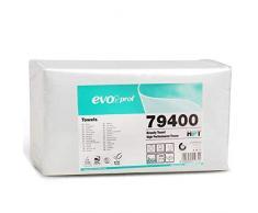 Asciugamani Monouso Celtex EVO Prof per Parrucchiere Estetista - Altissima qualità, 66 gr/mq, 40x80 cm, 100% Pura cellulosa Dermatologicamente Testato