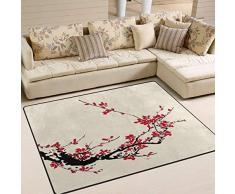 Alta qualità Giappone Giapponese stile vintage non di slittamento coperta di zona for il salone da pranzo Camera da letto Cucina, tradizionale Fiore Sakura Cherry Blossom Nursery Tappeto Pavimento Moq