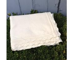 Cashmere e lana bordo a coperta per neonati