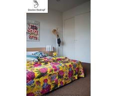 indiano hippie gypsy Home Decor, camera da letto Decor, Bohemian Bedding, Bohemian copriletto, coperta, copriletto, Handmade Quilt, kantha Bedding, vintage kantha Quilt, indiano lenzuolo