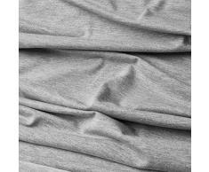 Jersey cotone - tessuto Jersey elastico di 95% cotone e 5% elastan - stoffa al metro (grigio chiaro melange)