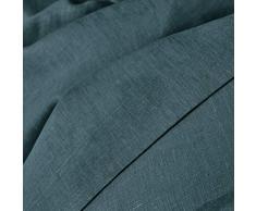 La Redoute Interieurs Unisex Copripiumone Lino Lavato Taglia 260 X 240 Cm Blu