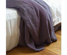 Linenme 230 x 275 cm lenzuolo superiore in lino lavato, bianco ottico