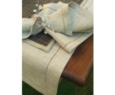 LinenMe 1-Pezzo 50 x 140 cm runner da tavolo lino Emilia, colore naturale