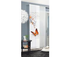 Home fashion Butterfly Tenda a Pannello, Poliestere, Arancione, 245 x 60 cm