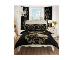 Gaveno Cavailia - Completo copripiumino per letto matrimoniale king con stampa, colore: Nero