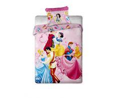 Set biancheria letto Principesse composto da coperta 140 x 200 cm e federa 70 x 90 cm