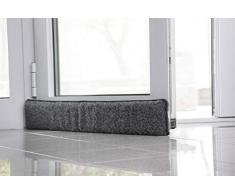 K. & N. - Paraspifferi in lana vergine 550 per porte, 100 cm, colore: Antracite