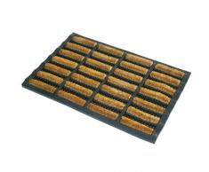 JVL - Zerbino per esterni ed interni rivestito in gomma e fibra di cocco, 45 x 75 cm