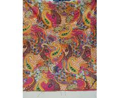 Tribal Asian Textiles Multicolore Paisley Stampa King Size Kantha Quilt, Kantha Coperta, Copriletto, Re Kantha copriletto, Bohemian Bedding Kantha Dimensioni 228,6 x 274,3 cm 005