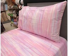 Lenzuolo flanella evolution piazza mezzo rosa 13505 (sopra lenzuolo 180x285 + sotto lenzuolo 125x200 + 1federa) GABEL