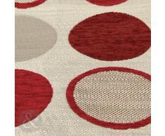 """Just Contempo - Cuscino decorativo imbottito per letto o divano, in ciniglia, con motivo contemporaneo a cerchi, 43 x 43 cm, Poliestere, rosso (bordeaux), fodera cuscino 17"""" x 17"""""""