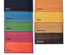 Bambù liscio tappeto cm 50x75 [AZZURRO]
