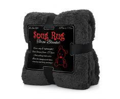 """Snug Rug Pregiato Sherpa, Edizione Speciale Coperta in Pile 127 x 178 cm (50"""") x 70 cm (Grigio)"""