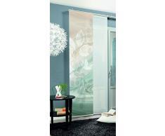 Home fashion Toupillon Tenda a Pannello, Poliestere, Verde/Marrone, 245 x 60 cm