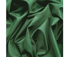 Tessuto taffetá di ottima qualità - superficie lucida nobile - stoffa al metro (verde scuro)