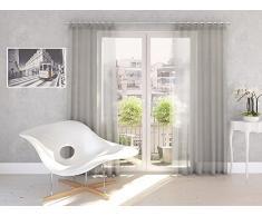 Splendid Collezione DIANA - Tenda con passanti, 140 x 245 cm, colore grigio