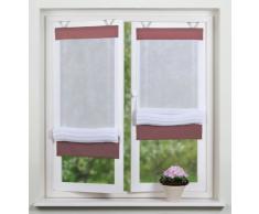 Home fashion 69165-856 - Tenda a pacchetto, struttura di lino in voile, 140 x 100 cm, colore: Bordeaux