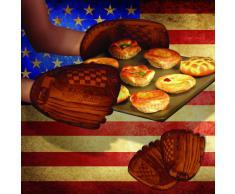 Mustard NG5322 Guanto da Cucina - Marrone Home Run Guantone da Baseball
