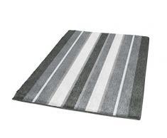 Kleine Wolke - Tappeto da bagno in cotone Alabama, 60 x 90 cm, colore: grigio