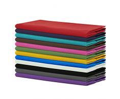 SweetNeedle - Confezione da 12 - Tovaglioli Oversize in Cotone 100% 50 CM x 50 CM (20 in x 20 in), Multi Colori - Tessuto Pesante per Uso Quotidiano con Angoli arrotondati