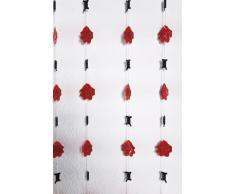 Kare 31101 - Tenda per porta, motivo: filo spinato e rose